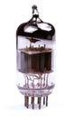 Vacuum radio tube lamp close up isolated on white background Stock Photography