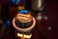 Vacuum tube hifi stereo tubes heating up Royalty Free Stock Photos