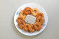 Vada y bocados indios del sur de la salsa picante Imagen de archivo libre de regalías