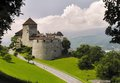 Vaduz castle is the palace and official residence of the prince of liechtenstein Stock Photos