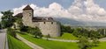 Vaduz castle is the palace and official residence of the prince of liechtenstein Stock Images