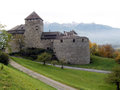 Vaduz castle view of lichtenstein Royalty Free Stock Images
