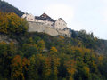 Vaduz castle view of in lichtenstein Royalty Free Stock Photo