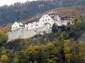 Vaduz castle view of in lichtenstein Royalty Free Stock Photography