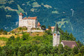 Vaduz castle view, Lichtenstein Royalty Free Stock Photo