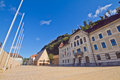 Vaduz city castle in liechtenstein architecture Stock Image