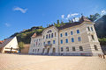 Vaduz city castle in liechtenstein architecture Royalty Free Stock Image