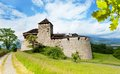 Vaduz prince castle in liechtenstein kingdom tiny country in europe Stock Images