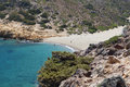Vai beach at Crete island, Greece Royalty Free Stock Images