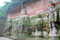 Vairocana Buddha in the cave in Leshan, China Royalty Free Stock Images