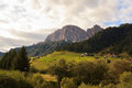 Val badia dolomites view of mountains in italy Stock Photography