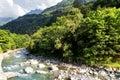 Val Bregaglia With Mera River
