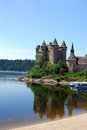 Val castle in auvergne french region Stock Image