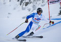 Val gardena super g italy december paris dominik ita competing in the audi fis alpine skiing world cup race on the saslong course Stock Image