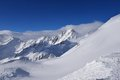 Val senales italy sunny slopes in south tyrol in Royalty Free Stock Photography