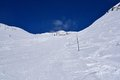 Val senales italy sunny slopes in south tyrol in Royalty Free Stock Images