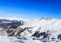 Val Thorens ski resort in the  ALps. Village Menuires Royalty Free Stock Photo