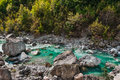Valbona river in northern albania tourist attraction and rafting Stock Photo