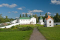 Valday iversky monastery the church of the holy righteous james borovichskye and hospital kelijami and refectory in valdai russia Stock Photo
