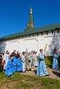 Valday russia august annual sacred religious procession icon our lady iver passing novgorod region valday august valday russia Stock Photo