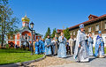 Valday russia august annual sacred religious procession icon our lady iver passing novgorod region valday august valday russia Royalty Free Stock Photo