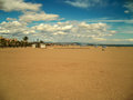 Valencia beach with cloudy sky Royalty Free Stock Photo