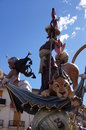 Valencia falla convento jerusalen detail typical feast Stock Photography