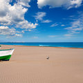 Valencia malvarrosa patacona beach mediterranean sea in of spain Stock Photography