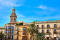 Valencia Plaza Reina square and Santa Catalina Royalty Free Stock Photo