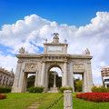 Valencia porta puerta del mar door square spain at Royalty Free Stock Photos