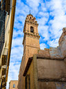 Valencia san esteban protomartir church belfry spain tower in Stock Photo