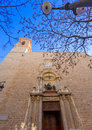 Valencia san martin church facade of spain in vicente street Royalty Free Stock Image