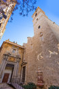 Valencia san martin church facade of spain in vicente street Stock Photography