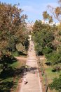 Valencia spain october people jog in turia gardens on october in is rd largest urban area in with Stock Photo
