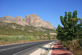 Valencian landscape with mountain road Stock Images