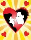Valentin´s hearts Stock Photography