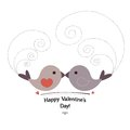 Valentin s day card with birds in love Stock Photography