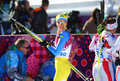 Valentina shevchenko sochi russia february at the finish of ladies skiathlon km classic km free of sochi xxii olympic winter games Stock Photo