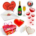Valentine's day vector set. Stock Image