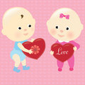 Valentine Babies Royalty Free Stock Images