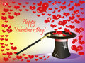 Valentine background with flying hearts Stock Photography