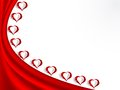 Valentine background with glass hearts Royalty Free Stock Image