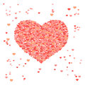Valentine background with hearts repetitive patte abstract pattern d vector Royalty Free Stock Photo