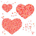 Valentine background with hearts repetitive pattern abstract vector d Royalty Free Stock Images