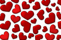 Valentine background - lot of red hearts Royalty Free Stock Photo