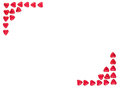 Valentine Background made with red hearts Royalty Free Stock Photo