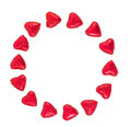 Valentine Background made with red hearts on a white background Royalty Free Stock Photo