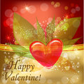 Valentine background vector illustration of with heart in the midle Stock Photos