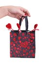 Valentine bag of hearts Stock Image