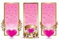 Valentine banner set Royalty Free Stock Photos
